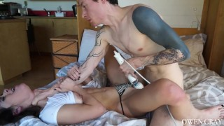 Passionate Couple Rough Sex with Orgasms and Creampie
